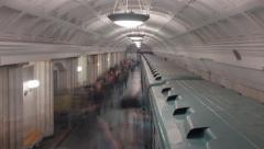 Subway Station Time lapse shoot. - stock footage