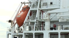 lifeboat from ship - stock footage