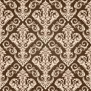 Seamless Damask Wallpaper III - stock illustration