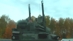 Turret working of Tunguska M1 - stock footage