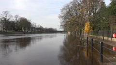 York river Ouse flooded Stock Footage