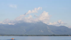 Boats on Chiemsee Stock Footage