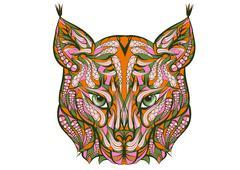 ethnic lynx - stock illustration