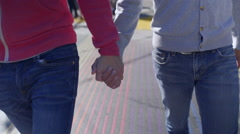 Gay Couple Hold Hands And Walk On Rainbow Crosswalk In San Francisco Arkistovideo