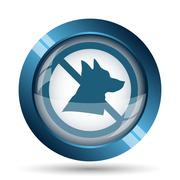 Stock Illustration of Forbidden dogs icon. Internet button on white background..