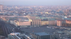 Berlin Germany - aerial view with Holocaust memorial - stock footage