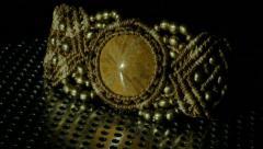 Jewelry Urchin fossils Bracelet - stock footage