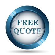 Free quote icon. Internet button on white background.. Stock Illustration