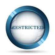 Restricted icon. Internet button on white background.. - stock illustration