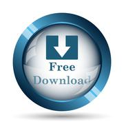 Free download icon. Internet button on white background.. Stock Illustration