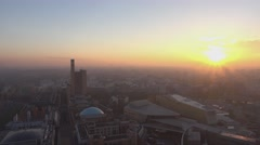 Sunset over the city f Berlin - stock footage