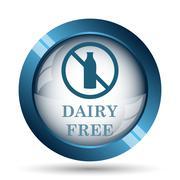 Stock Illustration of Dairy free icon. Internet button on white background..