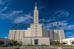 The Los Angeles California Temple - stock photo