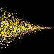 vector gold glittering stars tail dust - stock illustration