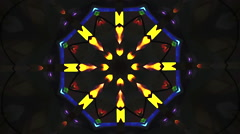 Kaleidoscopic Fractal mosaic in colors Stock Footage