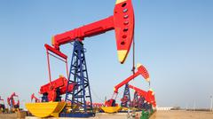 View of oilfield Stock Photos