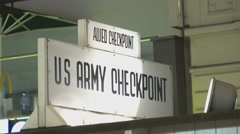 US Army Checkpoint Charlie in Berlin - stock footage