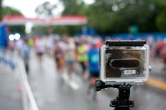 GoPro Camera Shoots Time-Lapse Of Rainy Peachtree Road Race - stock photo