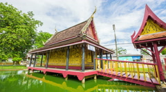 Thailand pavilion beautiful water collection Stock Footage