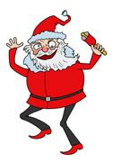 Crazy Santa - stock illustration