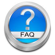 FAQ Button - stock illustration