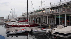 Stock Video Footage of Boat in the Trieste Pier
