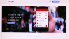 Screen displays popular social network homepage Stock Footage