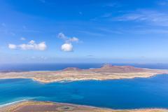 Meeresenge zwischen Lanzarote und La Graciosa - stock photo