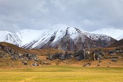 castle hill important destination landmark to visiting in south island new ze - stock photo