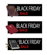 Holy Bible on Black Friday Sale Banner Piirros