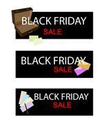Office Supply on Black Friday Sale Banner - stock illustration