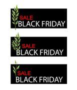 Stock Illustration of Pedilanthus Tithymaloides Plants on Black Friday Sale Banner