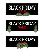Nerve Plants on Black Friday Sale Banner - stock illustration
