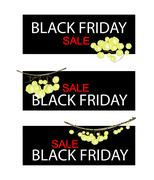 Star Gooseberry on Black Friday Sale Banner Stock Illustration