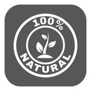 The 100 percent natural icon. Eco and bio, ecology symbol. Flat - stock illustration
