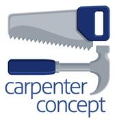 Saw and Hammer Tools Concept Stock Illustration