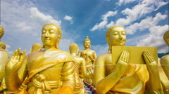 Makha Bucha Buddhist Memorial Park Stock Footage