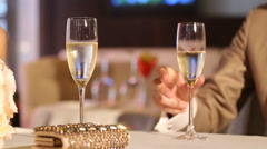 Couple drinking champagne - stock footage