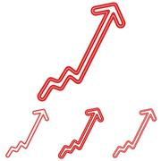 Stock Illustration of Red line progress logo design set
