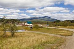 The village in the southern Urals Stock Photos