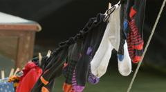 socks lying - stock footage