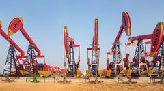 View of oilfield Kuvituskuvat