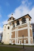 Belfry Saviour Euthymius monastery in Suzdal was built in the 16th century, t - stock photo