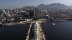 Museum of Tomorrow Aerial View, Rio de Janeiro Stock Footage