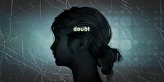 Stock Illustration of Woman Facing Doubt