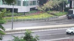 Hong Kong, China: road traffic landscape Stock Footage