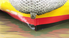 Prow of a boat at sea Stock Footage