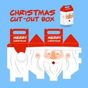 Santa claus cut out box Stock Illustration
