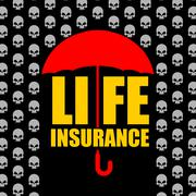 Life insurance. Protection against accident and death. Umbrella protects from Stock Illustration