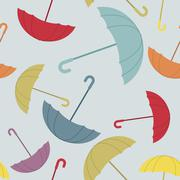 Stock Illustration of Umbrella seamless pattern. Many of colour opened umbrellas. Cute texture prot